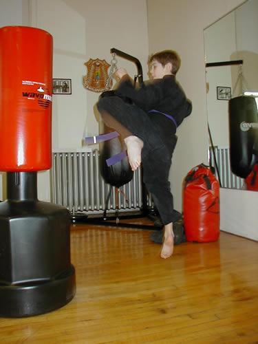 child karate jumping kick