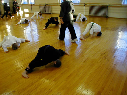 child karate stretching