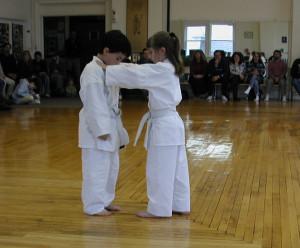 children karate demonstration