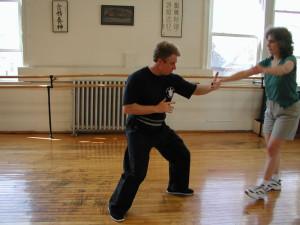 class applying tai chi