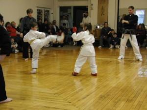 safe karate sparring for children