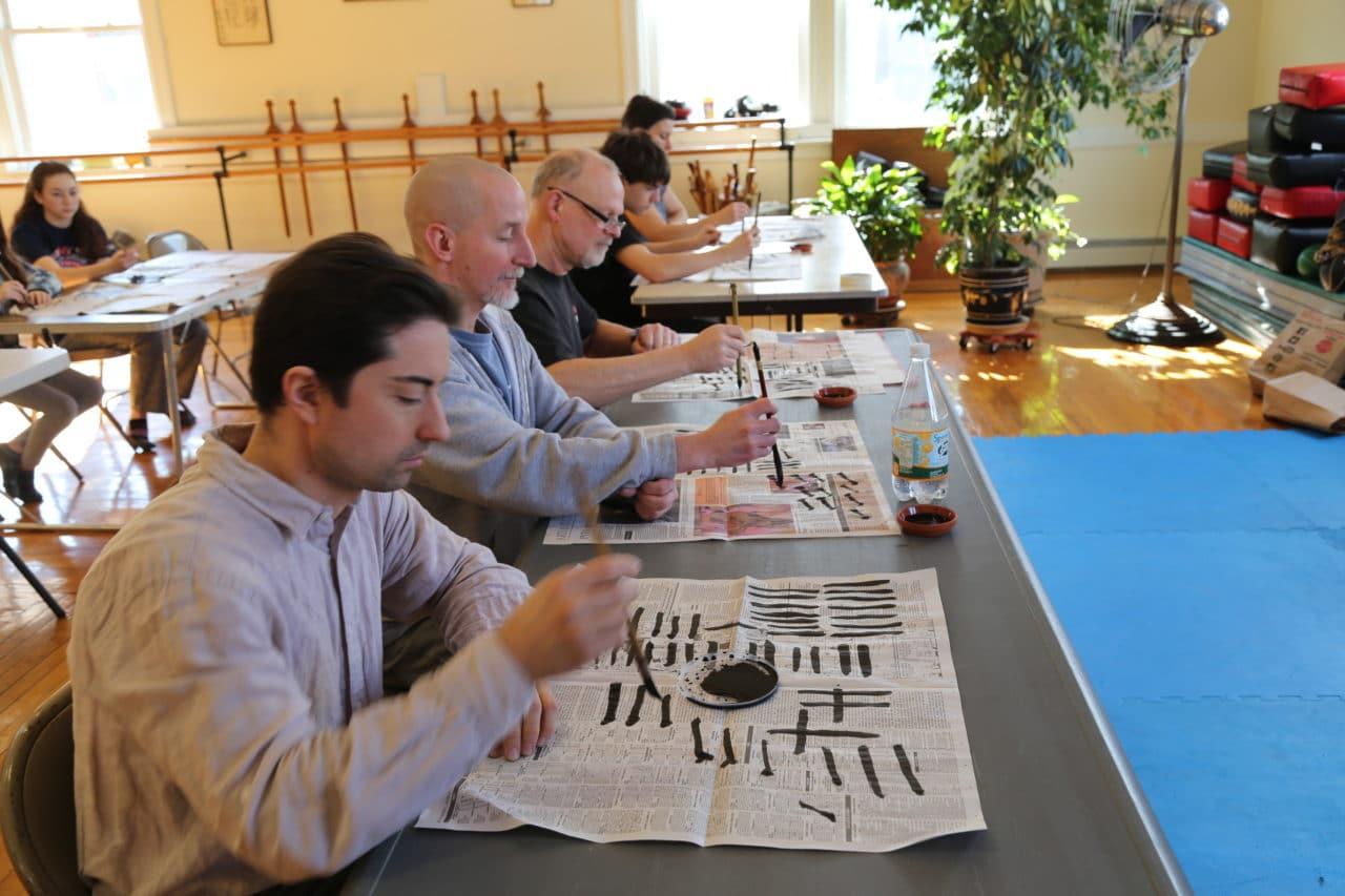 Calligraphy Workshop Students JRRMAS